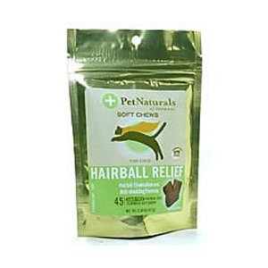 Hairball Relief Plus 45 Soft Chew Tablets by Pet Naturals of Vermont