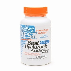 Doctor's Best Best Hyaluronic Acid with Chondroitin Sulfate, 60ea