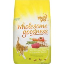 Meow Mix 3lb Wholesome Goodness Dry Cat Food With Chicken
