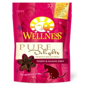 Wellness Pure Delights Jerky Cat Treats, 3-ounce pouch
