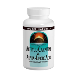 SOURCE NATURALS ACETYL LCARNITINE ALPHALIPOIC ACID 650 MG 120 TABLETS