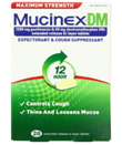 Mucinex DM Maximum Strength 12-Hour Expectorant and Cough Supressant Tablets