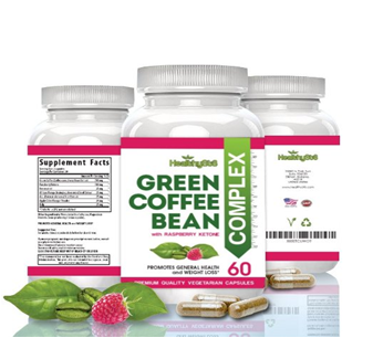 Pure Green Coffee Bean Extract with Raspberry Veggie Formula 60 Caps